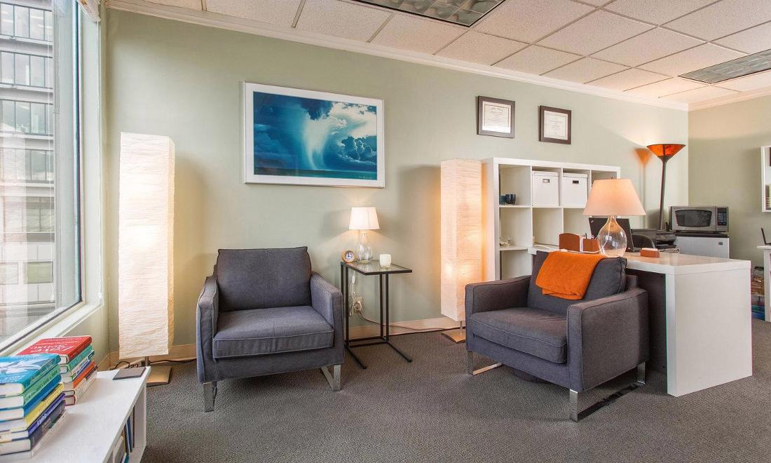 Client Chair in Seattle Office | Clarity Counseling Seattle
