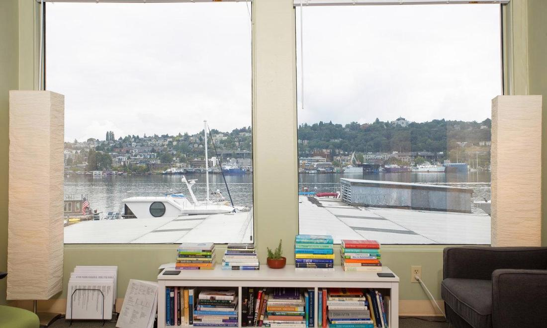View from interior of office | Seattle WA Counselor