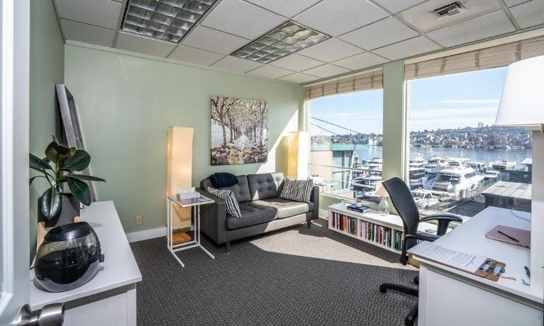 Office with waterfront view | Therapist Seattle WA